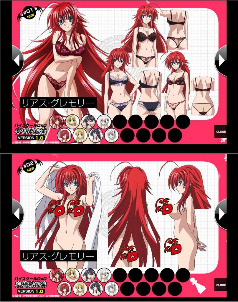Rias Gremory character design